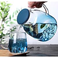 Bộ bình nước ánh xanh thủy tinh
