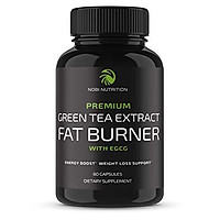 Nobi Nutrition Green Tea Fat Burner - Green Tea Extract Supplement with EGCG - Diet Pills, Appetite Suppressant, Metabolism & Thermogenesis Booster - Healthy Weight Loss for Women & Men (60 Capsules)