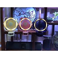 Quạt Mini Kèm Đèn Led Tích Sạc Điện Có Kẹp Để Bàn Tiện Lợi - Giao màu ngẫu nhiên
