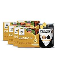 Combo 5 Hộp Thực phẩm hỗ trợ tiểu đường Egada-D + Tặng 1 Hộp Tỏi đen Kim Cương Đông Á 300g