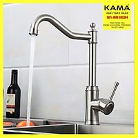 Vòi nước rửa chén bát nóng lạnh inox 304 phong cách Châu Âu KAMA RC11 - vòi nước nhà bếp nóng lạnh dùng cho chậu rửa chén bát, màu sắc inox 304 nguyên bản, cân nặng 1.7 kg - Hàng mới 2020