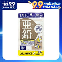 Viên uống bổ sung kẽm DHC Zinc - Hỗ trợ ức chế quá trình tiết bã nhờn và sừng hoá nang lông, cải thiện tình trạng da mụn, giúp duy trì làn da mịn màng và cải thiện tình trạng rụng tóc, tóc xơ cứng