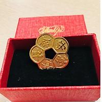 Đồng tiền hoa mai phong thủy mạ vàng 24k