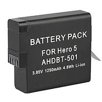 Pin Cho Camera Action Gopro Hero 5/6/7 Li-ion 1250mAh AHDBT-501
