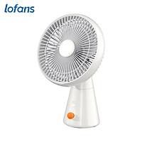 Lofans Cordless Desktop Fan Portable Fan 4 Speeds Adjustable/Low Noise/Type-C Interface/ 3000mAh Rechargeable/Built-in