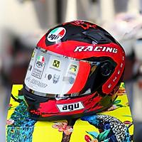 Mũ bảo hiểm fullface AGU Nhiều màu Kính trà