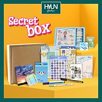 Combo 15 món quà tặng Stationery Secret Box -  sticker dán trang trí bullet journal planner