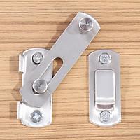 Chốt khóa cài cửa an toàn chất liệu thép không gỉ cao cấp tiện dụng  (7x5cm)