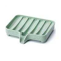 Soap Dish Bar Soap Holder Pack Bathroom Kitchen Anti-slip Dish Drainer Drying Rack Pack