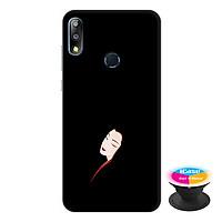 Ốp lưng điện thoại Asus Zenfone Max Pro M2 hình Mặt Người Mẫu 1 tặng kèm giá đỡ điện thoại iCase xinh xắn - Hàng chính hãng