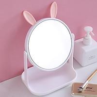 Gương để bàn tai thỏ xinh xắn đáng yêu
