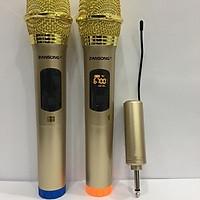 Bộ 2 Micro Không Dây ZANSONG S28 Sóng UHF Wireless Dành Cho Amly , Loa Kéo - Hỗ Trợ Các Thiết Bị Có Jack Cắm 3.5mm Và 6.5mm Tặng 2 Chống Lăn Mic + 04 Viên Pin