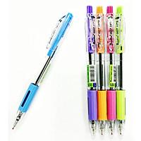 Bút bi xanh Quantum 007 Hitz - 0.7mm (8 Cây) - Thân bút nhiều màu sắc