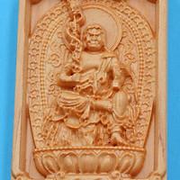 Mặt Phật Gỗ Hoàng Đàn - Bất Động Minh Vương - Tuổi Dậu