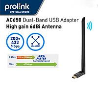 Prolink DH-5103U AC 650 UPS USB thu sóng Wifi, băng tần kép  2.4 / 5g (DH-5103U) - Hàng Chính Hãng