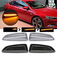 Dynamic LED Side Indicator Light For Opel Vauxhall Astra J K Insignia B Zafira C (Clear)