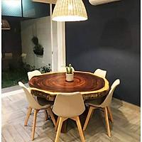 bộ bàn ăn tròn 6 ghế 217