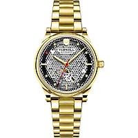 Đồng hồ nữ máy cơ lộ máy đính đá dây da và dây thép TOPHILL TV003L.S2288G