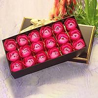 Hoa hồng sáp 18 bông kèm hộp sang trọng, món quà ý nghĩa tặng bạn gái - màu giao ngẫu nhiên