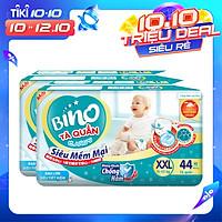 Combo 2 Tã Quần Bino XXL44 [44 miếng] công nghệ Nhật Bản [kháng khuẩn, chống hăm] dành cho bé từ 15- 25kg,
