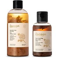 Combo nước tẩy trang hoa hồng Cooon 300ml + Nước hoa hồng Cocoon 140ml