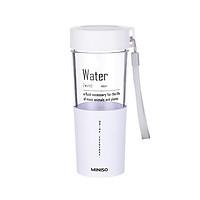 Chai đựng nước Miniso nhựa trong suốt 410ml - Hàng chính hãng