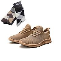 Giày thể thao nam, Giày sneaker nam thoáng khí - tặng kèm đôi tất như trong hình