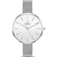 Obaku Denmark - Womens Designer Watch - Classic Modern Design Elegant Steel Case - Mesh Band - Model: Mynte, Color: Gold - Rose Gold - Silver - Charcoal - Granite - Sapphire Blue - Walnut, Best Gift