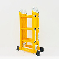 Thang nhôm gấp 4 đoạn JUMBO B303, chữ A - 1.7m, chữ I - 3.5m, 14 tư thế sử dụng, tải trọng 300kg, sơn tĩnh điện