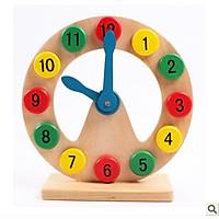 Đồ chơi sáng tạo trí thông minh hình đồng hồ số cho bé từ 8 tháng -4 tuổi