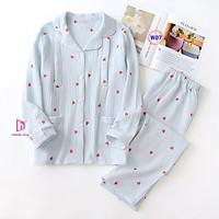 Pijama Sau Sinh (Vải Xô nhật) Mặc hè cực mát W06