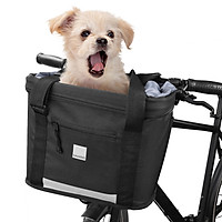 Waterproof Bike Basket Front Bicycle Bag Cycling Handlebar Pannier Large Capacity MTB Bike Phone Holder Road Bike Bag