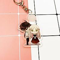 ( Mica trong acrylic ) Móc khóa Vết cắn ngọt ngào anime chibi