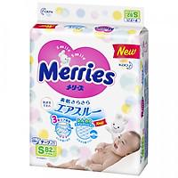 Tã Dán Merries Size S 82 Miếng Bao Bì Mới (Cho Bé 4-8Kg)