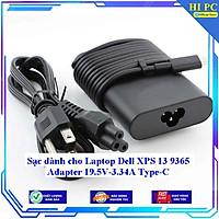 Sạc dành cho Laptop Dell XPS 13 9365 Adapter 19.5V-3.34A Type C - Hàng Nhập Khẩu