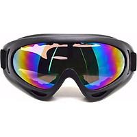 Mắt kính đi đường chống bụi, chống tia UV X400 GT1113 (Dây Đen, kính tráng bạc 7 màu )