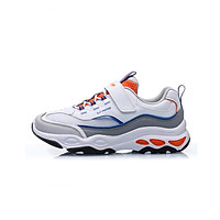 Li Ning official flagship store children's sports shoes boys and girls children's sports life series comfortable breathable wear non-slip children's casual shoes YKCP258-2 standard white 35