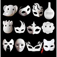 Mặt nạ giấy bồi cho bé chơi tô màu và chơi mặt nạ trung thu hóa trang halloween