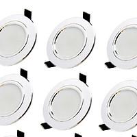 Bộ combo 10 đèn âm trần 7w, 3 chế độ, lỗ khoét 90, viền trắng