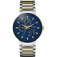 Bulova Men's Quartz Stainless Steel Dress Watch, Color:Two Tone (Model: 98C123)