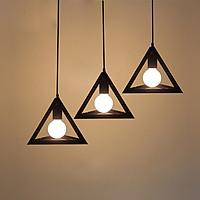 Combo 3 đèn thả khối tam giác đa chiều trang trí kèm bóng LED chuyên dụng Goldseee