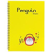 Sổ Lò Xo Penguin (18x25cm) - Mẫu 3 - Màu Vàng