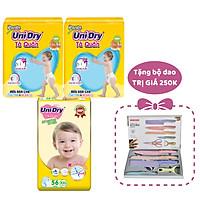 Combo 2 Tã Quần UniDry + 1 Tã Quần Siêu Mỏng UniDry Ultrathin Gói Cực Đại size XXL56 (56 Miếng/Gói) - Tặng 1 Bộ Dao 5 Món
