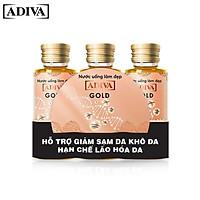 3 lọ Nước uống làm đẹp Collagen ADIVA Gold