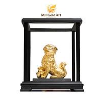 Tượng Hoàng Kim Tuất Dát Vàng 24K (tượng chú chó 20x17x24cm) MT Gold Art- Hàng chính hãng, trang trí nhà cửa, phòng làm việc, quà tặng sếp, đối tác, khách hàng, tân gia, khai trương
