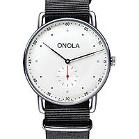 ONOLA 3806 Men Quartz Watch Leather Nylon Band Fashion Multifunction Wristwatch 3ATM Watches