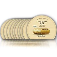 Combo 10 Mặt nạ dưỡng da giúp nâng cơ, chống lão hóa BNBG Vita Cocktail Age Foil Mask - Intensive Lifting 30ml x 10