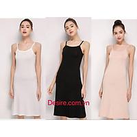 Váy/Đầm hai dây thun - Váy mặc lót thun cotton siêu mịn mát cho mùa hè