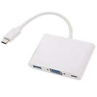 Bộ chuyển đổi Hub USB 3.1 Type-C tốc độ cao Cổng sạc thay thế cho MacBook 12