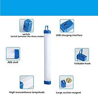 Bóng đèn dài tích điện, chiếu sáng tới 8 giờ, 3 chế độ sáng, sạc USB - treo bằng nam châm hoặc móc treo